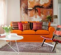 Wandbilder Wohnzimmer – 50 Ideen, wie Sie die Wohnzimmerwände mit Wandbildern dekorieren