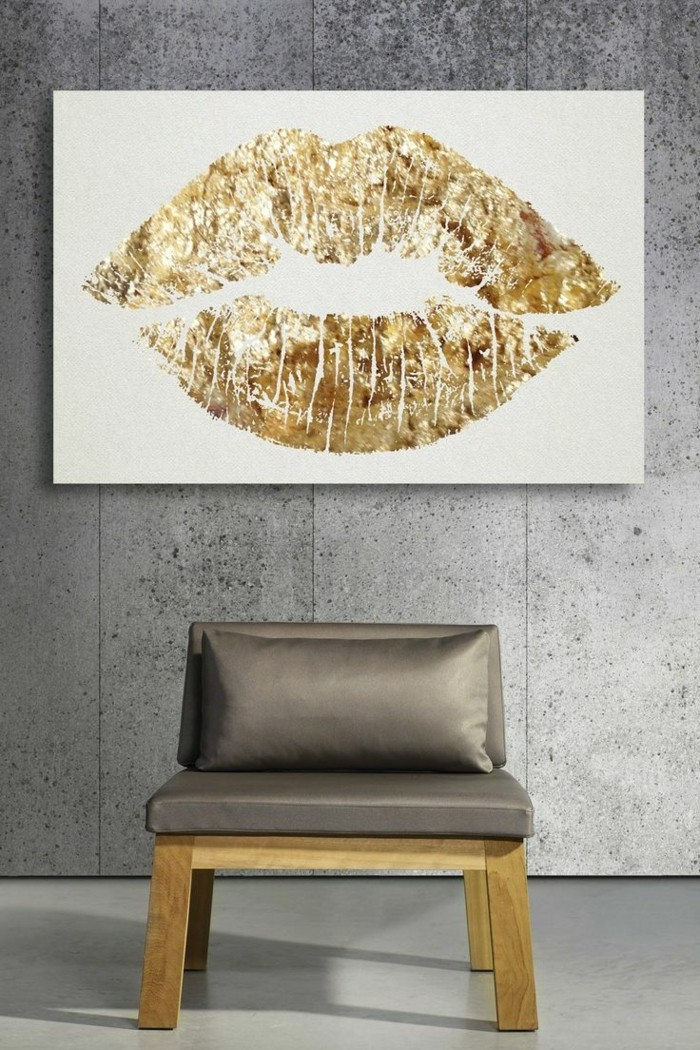 Wände dekorieren - 43 Wanddeko Ideen mit Leinwänden ...