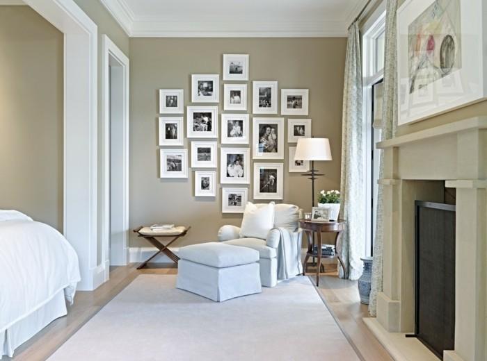 wanddeko ideen schlafzimmer beige wände fotos