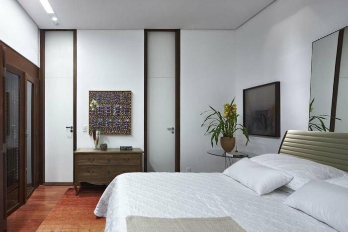 wanddeko ideen schlafzimmer weiße wände
