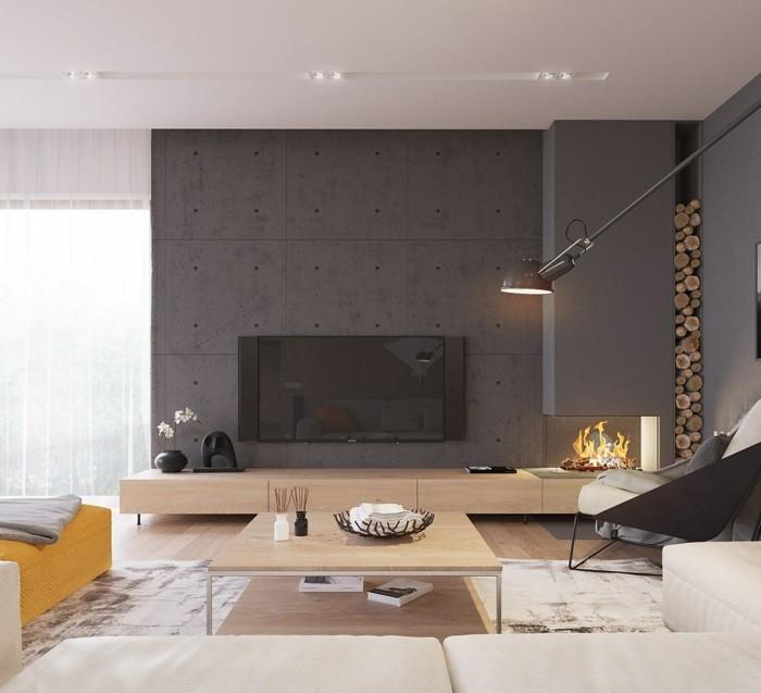 Wohneinrichtung ideen mit wandverkleidung aus beton und seinen imitationen - Wanddesign ...