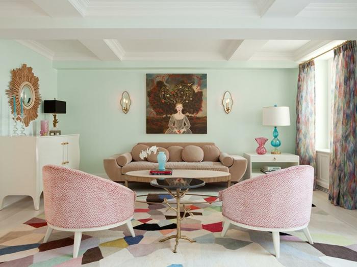 wandfarben einrichtungsbeispiele wohnideen wohnzimmer einrichten wohnzimmer ideen eisdiele