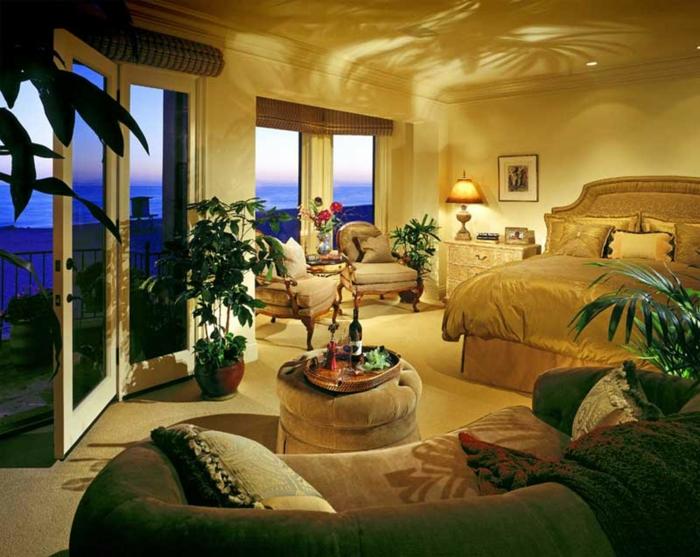 wandfarben einrichtungsbeispiele wohnideen wohnzimmer einrichten wohnzimmer ideen tropisch-edel