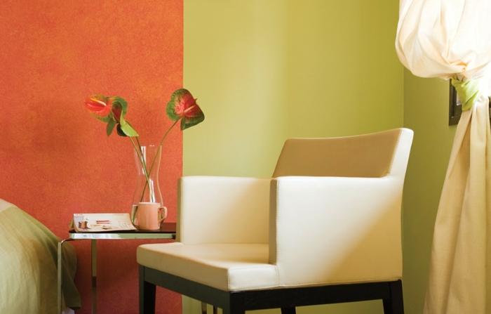 wandfarben einrichtungsbeispiele wohnideen wohnzimmer einrichten wohnzimmer ideen tropisch-exotisch