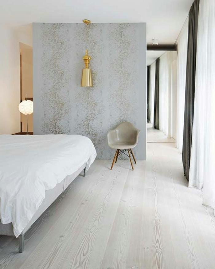 wandgestaltung ideen schlafzimemr betonwand akzente