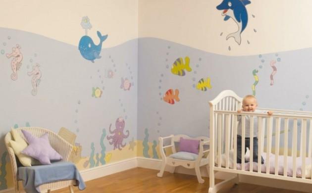 wandmalerei-kinderzimmer-babyzimmer-dekoideen-meer