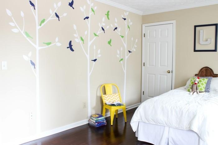 wandmalerei kinderzimmer wanddeko ideen bäume