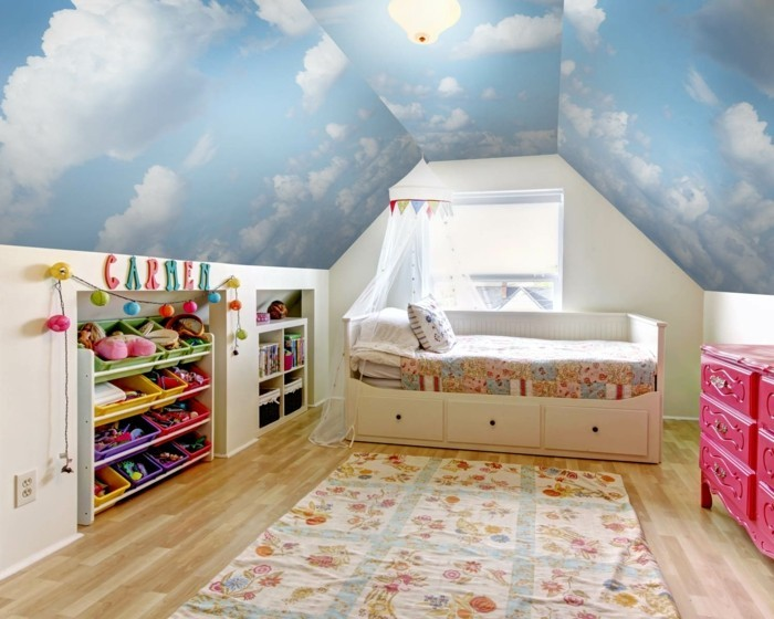 wandmalerei kinderzimmer 21 ideen wie sie eine ganz spezielle raumatmosph re schaffen. Black Bedroom Furniture Sets. Home Design Ideas