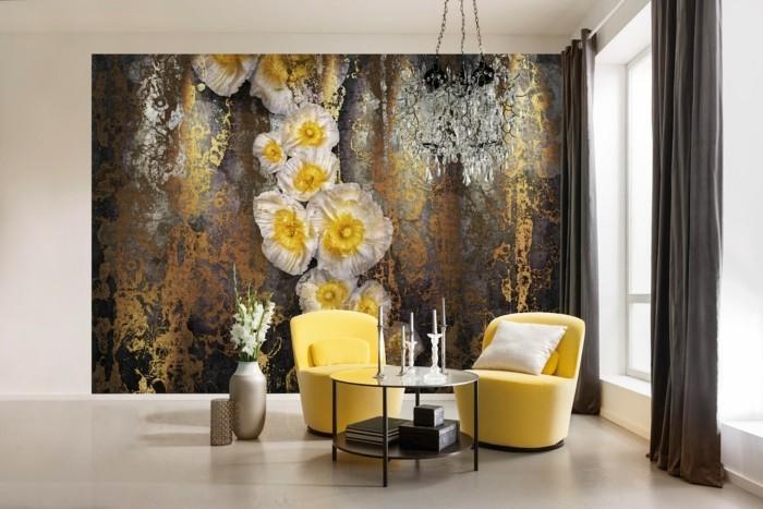 Awesome Wandmalerei Macht Wohn  Und Schlafzimmer Noch Wohnlicher U2013 30 Beispiele Für  Schönes Wanddesign ...