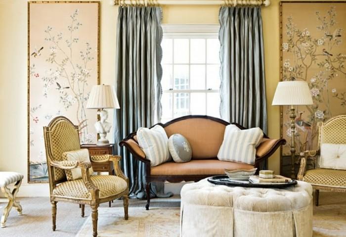 wandmalerei macht das wohnzimmer noch wohnlicher 30. Black Bedroom Furniture Sets. Home Design Ideas
