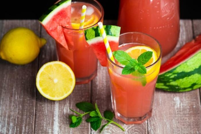 Sommer Rezepte wassermelone gurke salat lebe gesund titel limonade