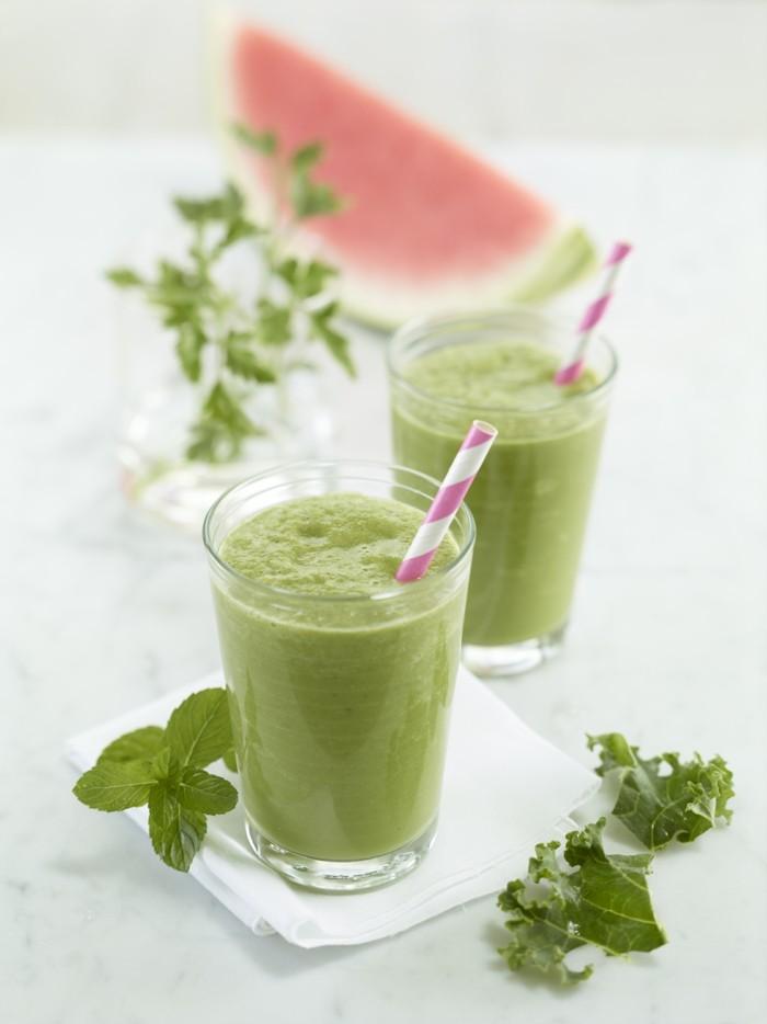 Sommer Rezepte wassermelone gurke salat lebe gesund titel saft grüner tee detox kur