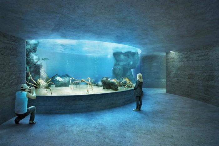 weltreise planen basel zoo ozeanium große krabben