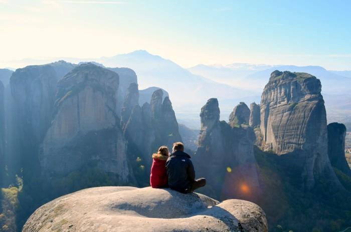 weltreisen weltreise griechenland ferien natur park vulkan sonnenuntergang romantik