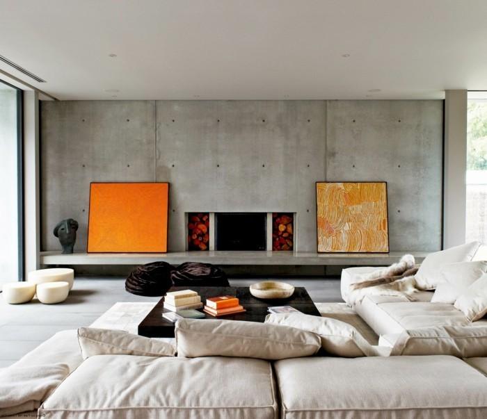Wohneinrichtung ideen mit wandverkleidung aus beton und seinen imitationen - Beton muu room in ...