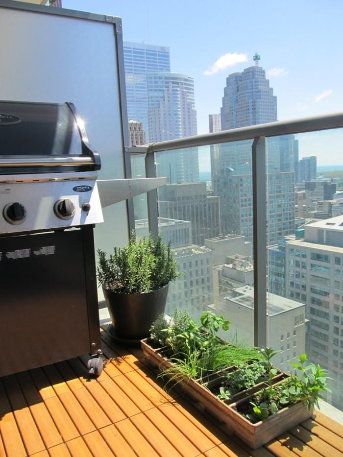 wohnideen balkongestaltung ideen pflanzen gesund leben