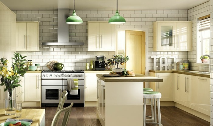 wohnideen küche creme küchenschränke pflanzen metro fleisen