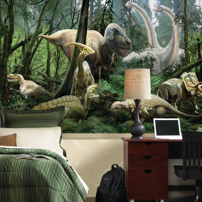 wohnideen kinderzimmer jungenzimmer gestalten dinosaurier