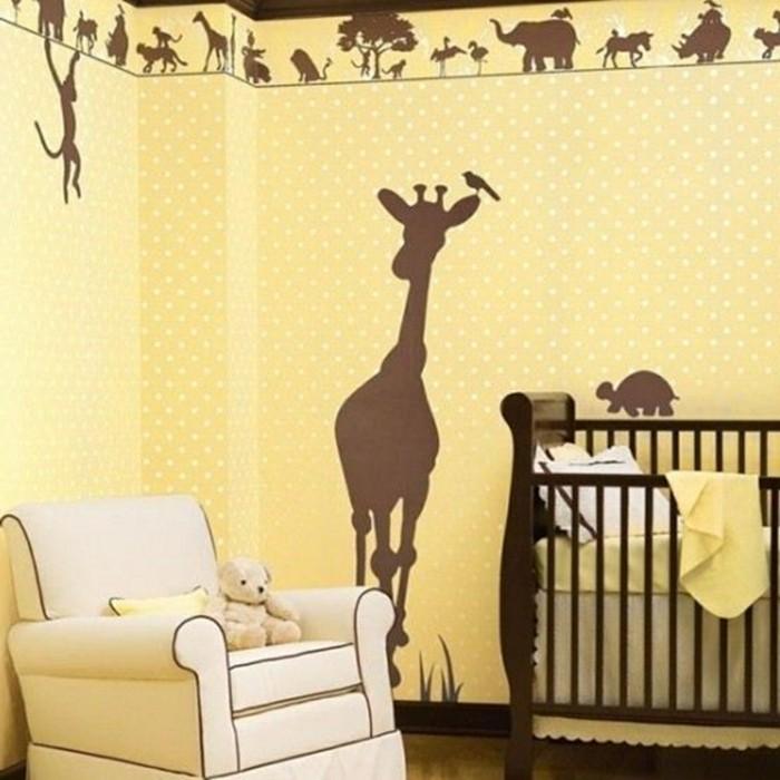 wohnideen kinderzimmer wandmalerei tiere babyzimmer gestalten