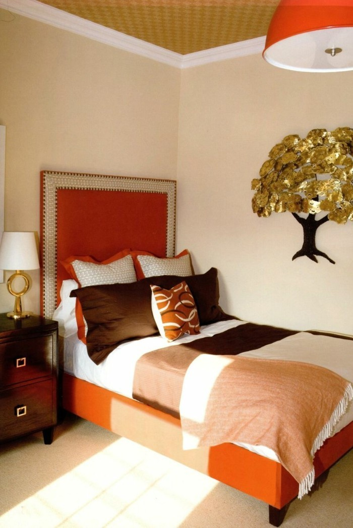 schlafzimmer orange