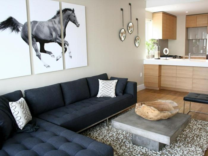 Wandbilder wohnzimmer 50 ideen wie sie die for Ausgefallene wanddeko