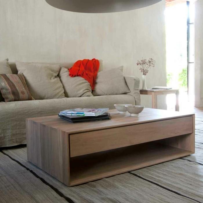 wohnideen wohnzimmer couchtisch design praktisch schublade