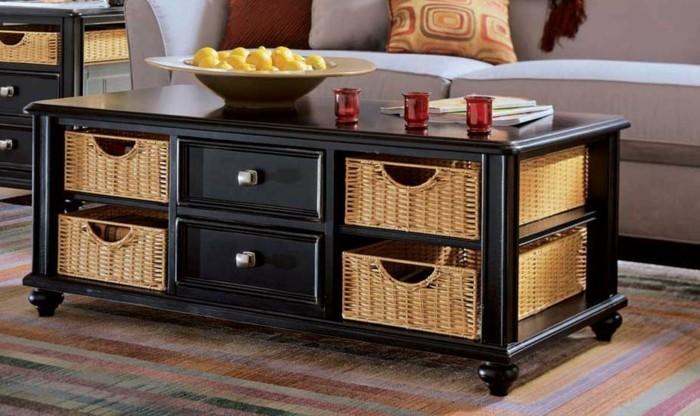 wohnideen wohnzimmer couchtisch design stauraum farbiger teppich
