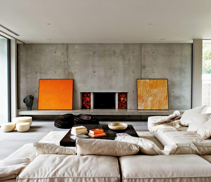 wohnideen wohnzimmer dekoration mit bildern