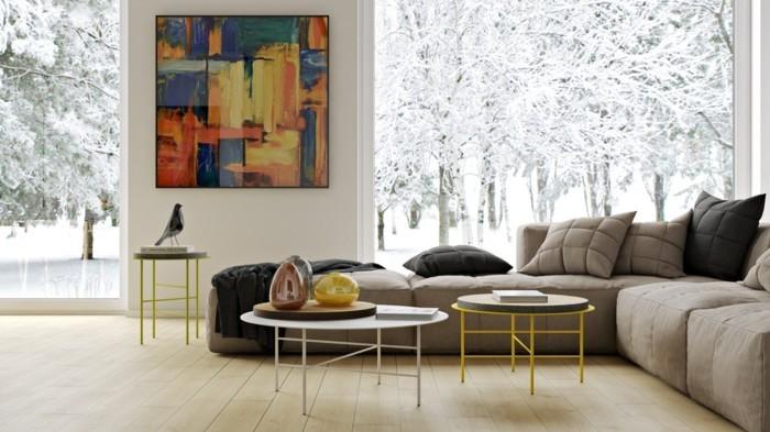 Wandbilder Wohnzimmer - 50 Ideen, wie Sie die Wohnzimmerwände mit ...
