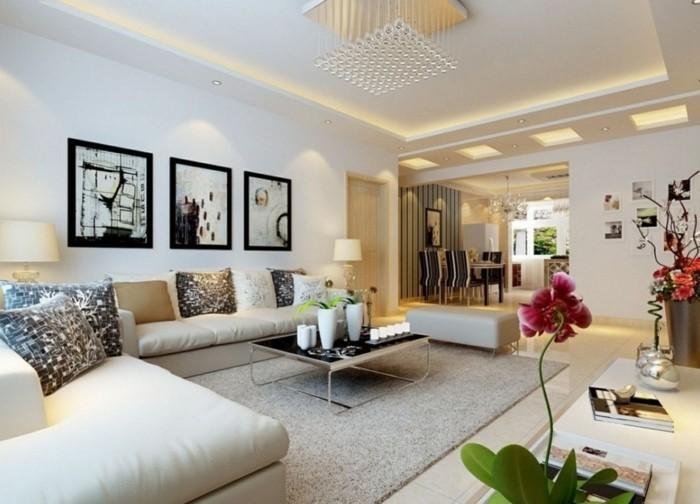 Wandbilder wohnzimmer 50 ideen wie sie die for Farbige wohnzimmerwand
