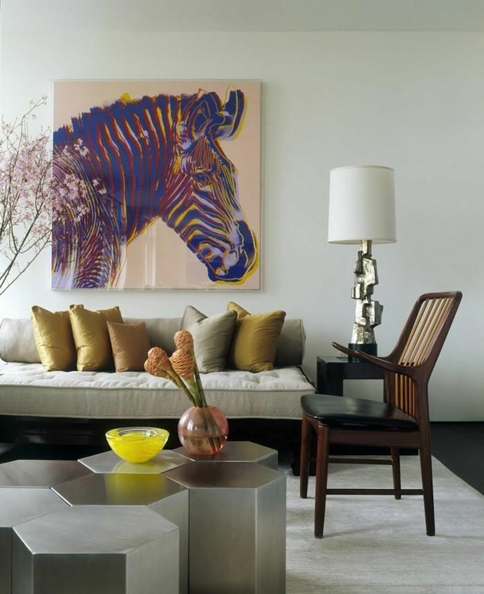 wohnideen wohnzimmer schönes wanddesign mit wandbild