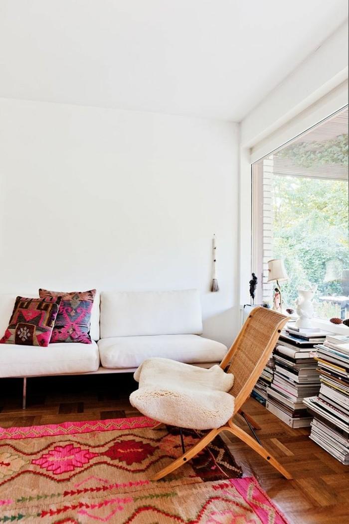vintage teppich ideen mit sch nen textilien und mustern f r einen vintage hauch. Black Bedroom Furniture Sets. Home Design Ideas