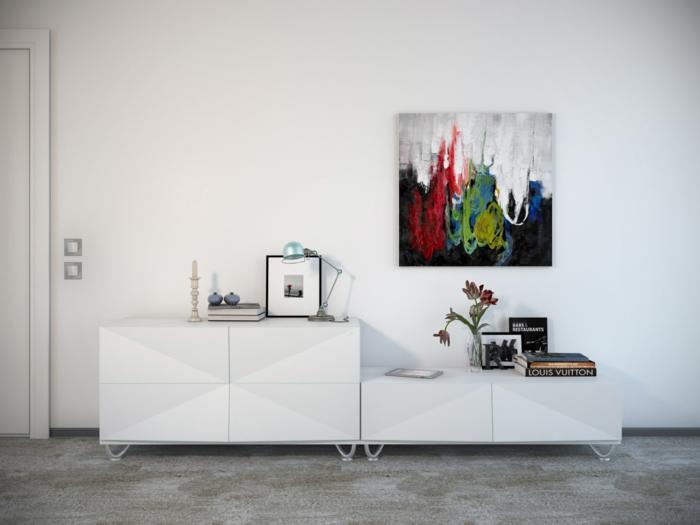 Fantastisch Wohnideen Wohnzimmer Wanddeko Ideen Mit Wandbildern Wandbilder Wohnzimmer U2013  50 Ideen, Wie Sie Die Wohnzimmerwände Mit Wandbildern Dekorieren ...