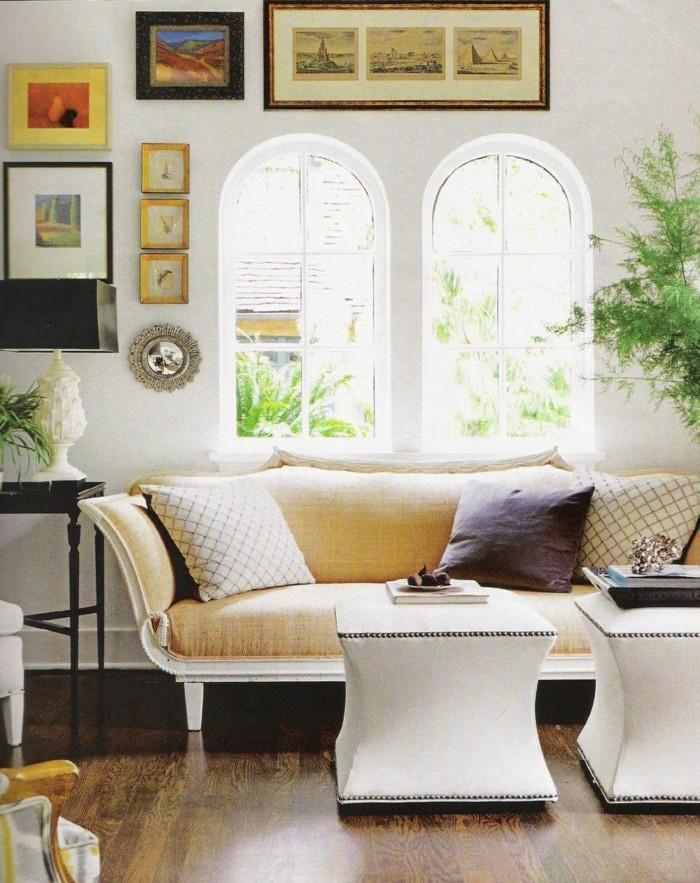 wohnideen wohnzimmer weiße wände wanddeko ideen
