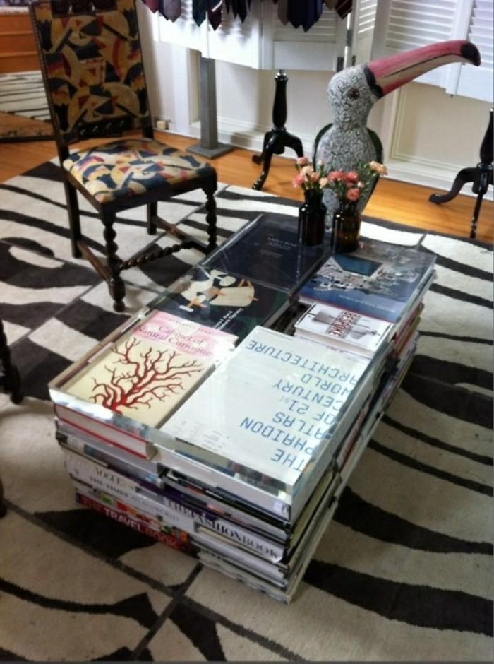 Wohnung Dekorieren Kaffeetisch Basteln Bücher Wohnzimmer Ideen