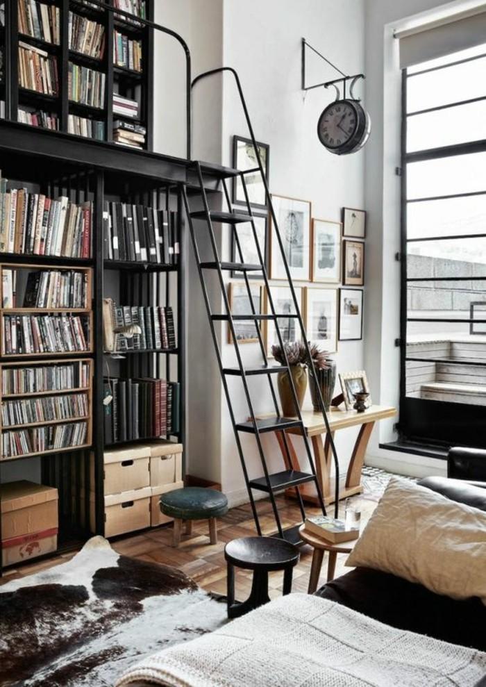 wohnung dekorieren - 65 ausgefallene dekoideen, wie sie bücher ins, Wohnzimmer
