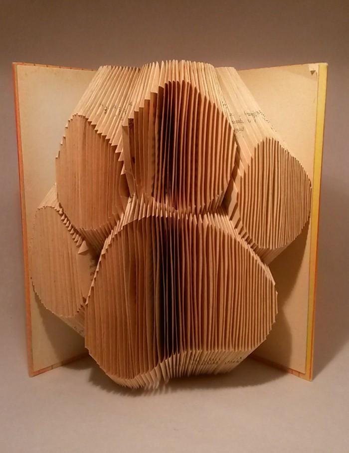 wohnung dekorieren origami bücher dekoideen