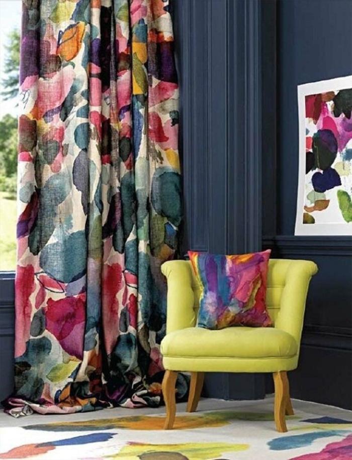 20 wohnungseinrichtung ideen mit grellen farben. Black Bedroom Furniture Sets. Home Design Ideas