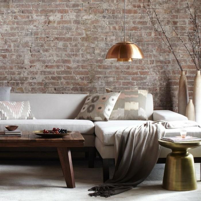 wohnzimmer ziegelwand raum und m beldesign inspiration. Black Bedroom Furniture Sets. Home Design Ideas