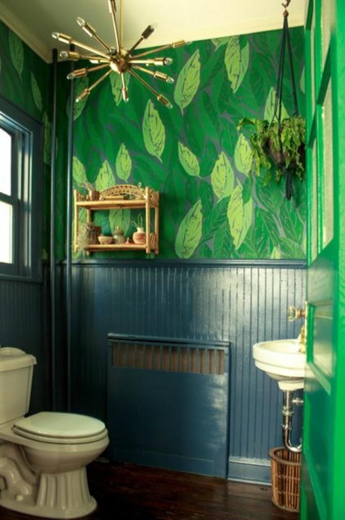 Hervorragend Bad Neu Gestalten Wandgestaltung Blau Grun