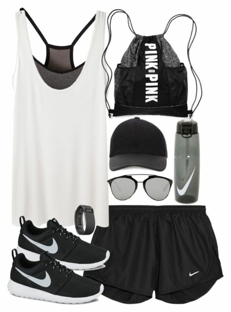 Damenmode Sportsbeklidung Fitness Studio Accessoires Outfit