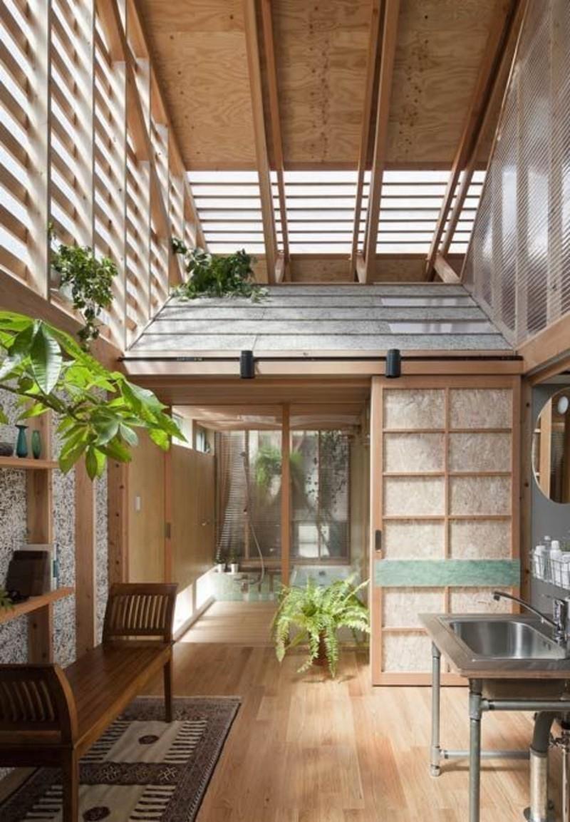 Einrichtungsbeispiele im Japanischen Stil Holzeinrichtung Zimmerpflanzen