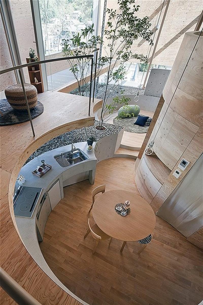 Einrichtungsbeispiele im Japanischen Stil Kücheninsel mit Essbereich