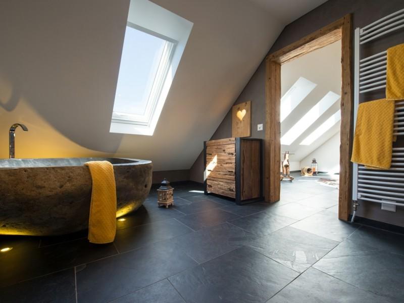 Leben mit naturstein 22 inspirierende gestaltungsideen for Gestaltungsideen badezimmer