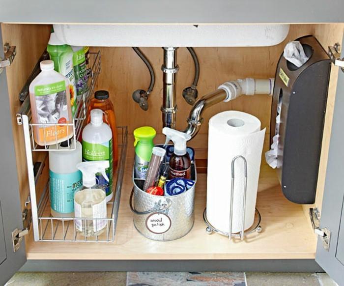 haushalt tipps reinigungsmittel badezimmer unterschrank