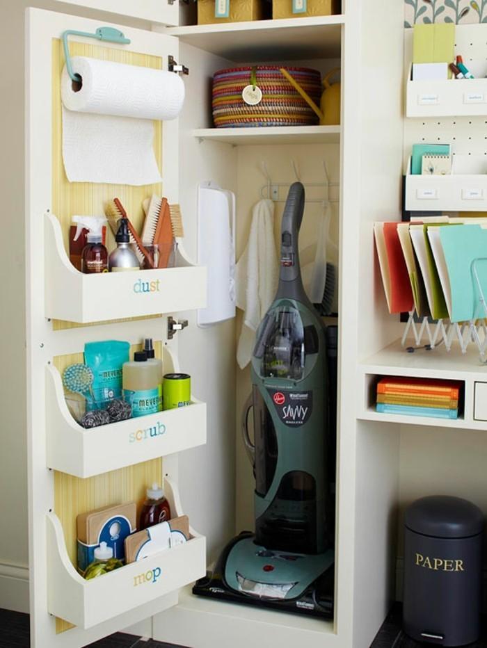 haushalt tipps notige utensilien reinigungsmittel schrank ordnen