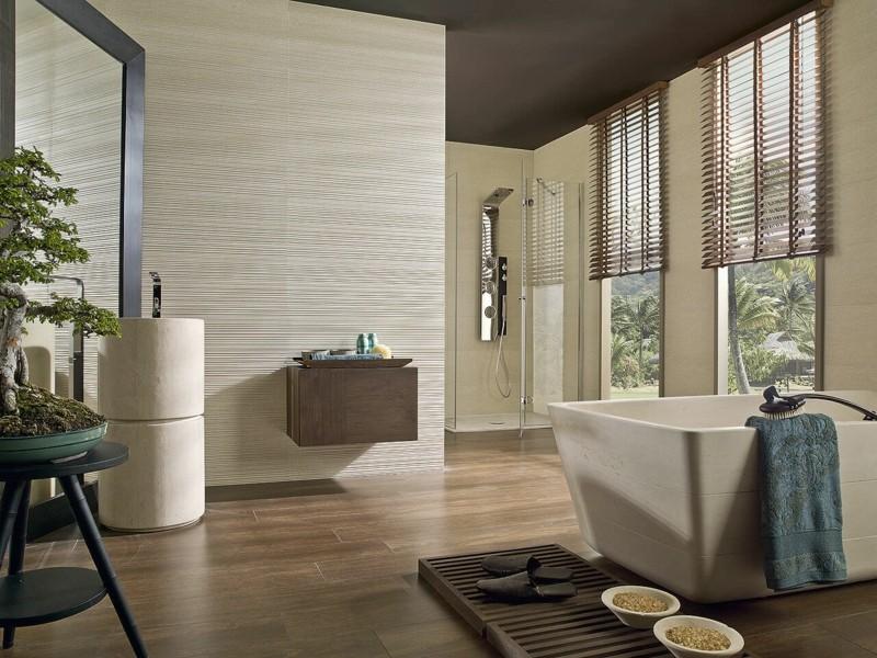 Innendesign im japanischen Stil Badmöbel Badewanne