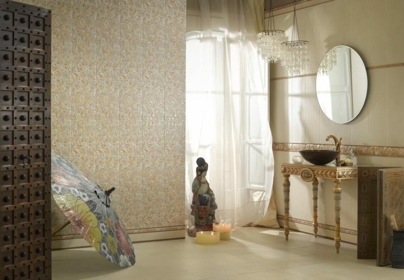keramikfliesen mit paisley muster deko ideen wandfliesen