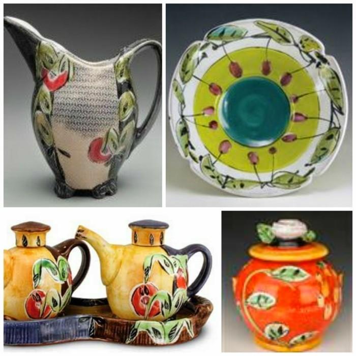 majolika keramik italien exponat hangemacht muster traditional geschirr kunst
