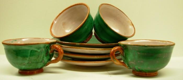 majolika keramik italien exponat hangemacht muster traditional geschirr
